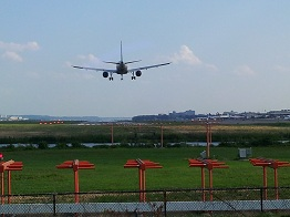plane landing at DCA smaller